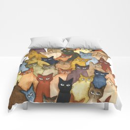 Many Whimsical Cats Comforters