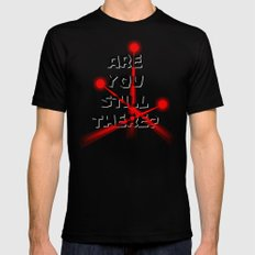 Are you still there? Black MEDIUM Mens Fitted Tee