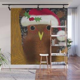 The Christmas Eve Owl Wall Mural