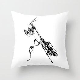 Violin Mantis Throw Pillow
