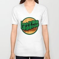 larry V-neck T-shirts featuring Larry Legend by 3hreesUp
