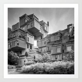 Habitat 67 07 - Mid Century Architecture Art Print