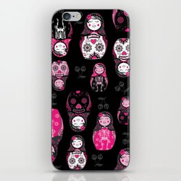 Russian/Mexican nesting dolls iPhone Skin