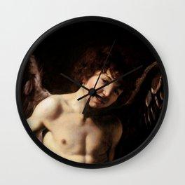 "Michelangelo Merisi da Caravaggio ""Amor Vincit Omnia"" (detail) Wall Clock"