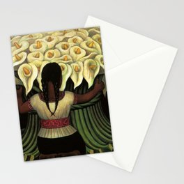 1941 Classical Masterpiece Calla lily 'Flower Seller' by Diego Rivera Stationery Cards