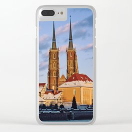 Wrocław Cathedral Clear iPhone Case