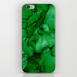Deep Green Abstract: Original Alcohol Ink Painting iPhone Skin