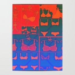 Lingerie Pop Art 2 Poster