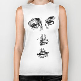my face (the most important parts) Biker Tank