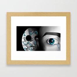 I Love You - Blue Framed Art Print