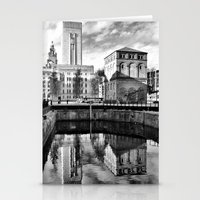 liverpool Stationery Cards featuring Liverpool Reflection by Caroline Benzies Photography