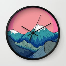 A small river in the mountains Wall Clock