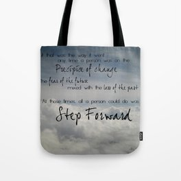 Step forward - clouds Tote Bag