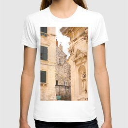 Terrace in Old Town Europe #decor #society6 T-shirt