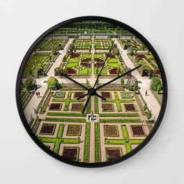 The Gardens at Chateau Villandry in France Wall Clock