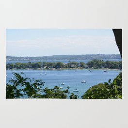 Harbor Springs Bay, View from Bluff (2) Rug