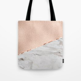 St Tropez rose gold marble Tote Bag