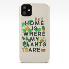 Home Is Where My Plants Are iPhone Case