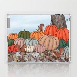 heirloom pumpkins, squirrels, & the oak tree Laptop & iPad Skin