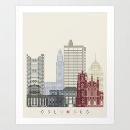 Columbus skyline poster  Art Print