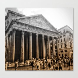 Agrippa built the Pantheon Canvas Print