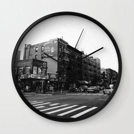 East Village Streets Wall Clock