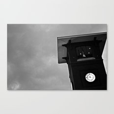 B&W Clock Tower Canvas Print