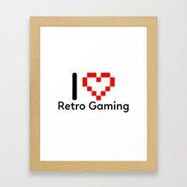 I Love Retro Gaming Framed Art Print