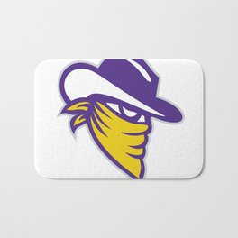Bandit Covered Face Icon Bath Mat
