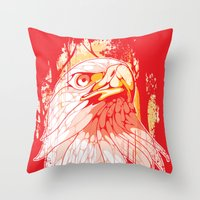 eagle Throw Pillows featuring Eagle by KUI29