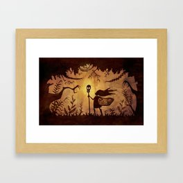 Silhouette Hero Framed Art Print