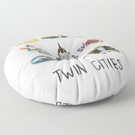 Twin Cities Floor Pillow