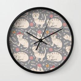 Kute Kitty Kats Wall Clock