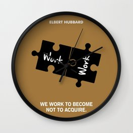 Lab No. 4 - Elbert Hubbard Work Motivational Quotes Poster Wall Clock