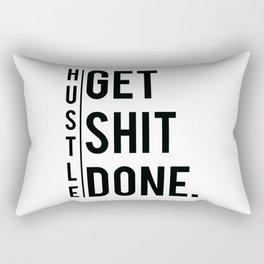 Get Shit Done - Hustle! Motivation Fitness Bodybuilding Trainer Gift Rectangular Pillow