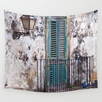 medieval Wall Tapestries featuring Medieval Sicilian Facade by CAPTAINSILVA