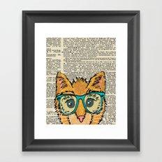 Orange Kitty Cat Framed Art Print