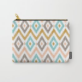 Sketchy Diamond IKAT Carry-All Pouch