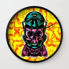 Face helmet Color Wall Clock