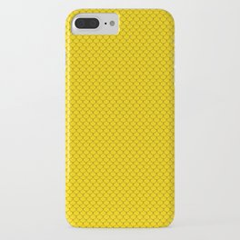Gold Yellow Scales Pattern Design iPhone Case