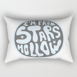 I'm From Stars Hollow in gray and blue Rectangular Pillow