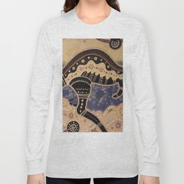 Kangaroo mural Long Sleeve T-shirt