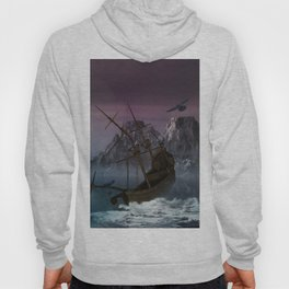 Awesome shipwreck in the night Hoody