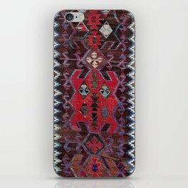 Obruk Konya Turkish  Antique Kilim Rug iPhone Skin