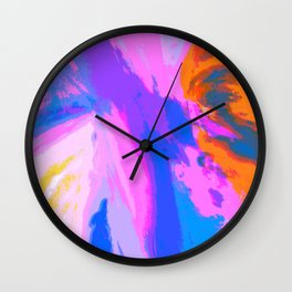 Abstract Untitled Creation by Robert S. Lee Wall Clock