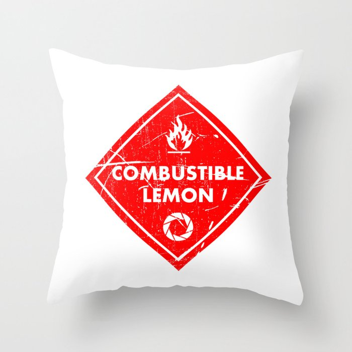 Combustible Lemon Throw Pillow