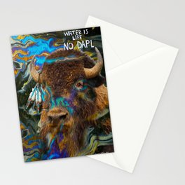 Buffalo in Oil Stationery Cards