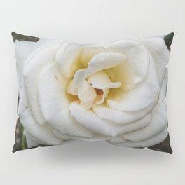 White Angular Rose Pillow Sham
