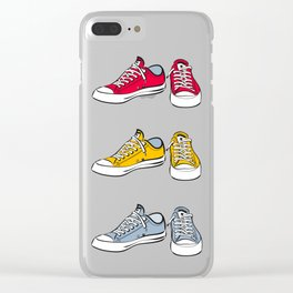 Grey Sneakers Clear iPhone Case