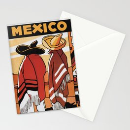 Mexico - Vintage Travel Poster Stationery Cards